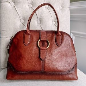 FRYE Brown Leather Dome Bag